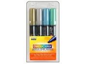 Uchida DecoColor Acrylic Paint Pen Set Metallic 4pc