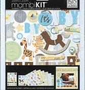 me & my BIG ideas 20cm by 20cm Scrapbook Page Kit, It.s a Boy