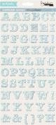 GCD Studios Family Jeans by Donna Salazar Chipboard Alphabet Stickers