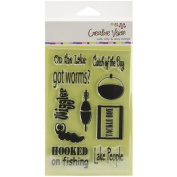 Clear Stamps 10cm x 15cm -Hooked On Fishing
