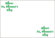 Ace Label 7100AL Happy St. Patrick's Day Adhesive Name Badge, White/Green, 20 Sheets Per Pack