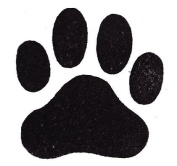 Dog Rubber Stamp - Paw Print Large-358F (Size
