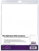 Ultra High Gloss White Cardstock 10 Sheets 8.5x11 Recommended for Use with Spectrum Noir & Other Alcohol Inks Crafter's Companion