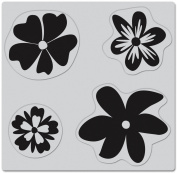 Hero Arts Cling Stamps Four Fun Flowers
