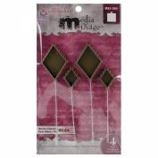 Spellbinders MB3-004 Media Mixage Diamond Hatpin Bezel for Scrapbooking, Bronze