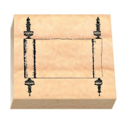 Ruth's Jewish Stamps Wood Mounted Rubber Stamp - Open Torah