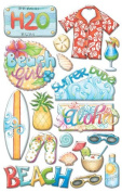 Hawaiian Tropical Epoxy Stickers