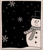 Hero Arts Rubber Stamps Snowman and Snowflakes Woodblock Stamp