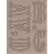 Bohemia Blossom Letter Rubon Transfers