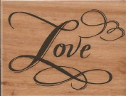 Elegant Love Wood Mounted Rubber Stamp