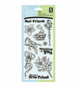 Inkadinkado(R) Clear Stamps - Best Friends