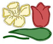 Lasting Impressions Brass Stencil - Daffodil