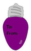 Lasting Impressions Brass Stencil - Light Bulb Tag