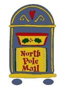 Lasting Impressions Brass Stencil - North Pole Mail