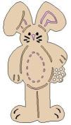 Lasting Impressions Brass Stencil - Tall Rabbit