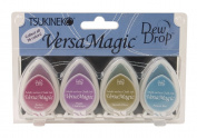 Tsukineko VersaMagic Dew Drop Inkpad of All Kinds, 4-Pack, Jewel Box