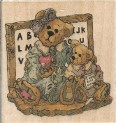 Ms. Bruin and Bailey Boyds Collection Wood Mounted Rubber Stamp