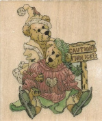 Simone and Bailey Helping Hands Boyds Collection Wood Mounted Rubber Stamp