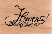 Flowers Wood Mounted Rubber Stamp