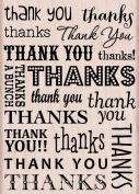Hero Arts Thank You/Thanks Woodblock Decorative Stamp