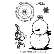 Snowman Awe Clear Unmounted Rubber Stamp Set