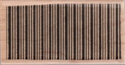 Thin Striped Rectangular Background Wood Mounted Rubber Stamp