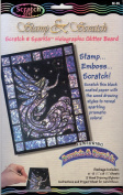 Stamp & Scratch Holographic Glitter Board Scratch Art Kit