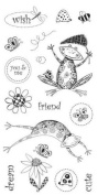 Fiskars - Tricia Santry Sudios - 10cm x 20cm Clear Stamps - Happy Day - 16 Stamps