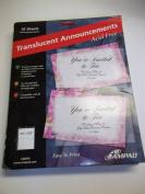 Ampad, 36045, Translucent Announcements, Acid Free, 10 Sheets, 20 Announcements, 14cm x 22cm