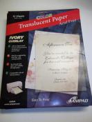 Ampad, 36049, Colour Translucent Paper, Acid Free, 12 Sheets, 22cm x 28cm , Ivory Overlay
