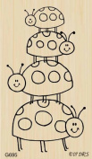 Ladybug Stackup Rubber Stamp By DRS Designs