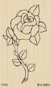 Single Rose Rubber Stamp By DRS Designs