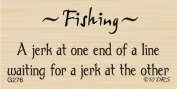 Jerk Fishing Greeting Rubber Stamp By DRS Designs