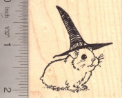 Hamster Witch Halloween Rubber Stamp