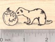 Halloween Ferret Rubber Stamp