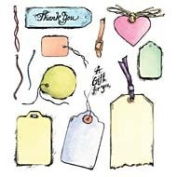 Tags Unmounted Rubber Stamp Set