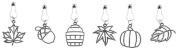 Karen Foster Design, Scrapbooking and Craft Embellishment Charms, Autumn