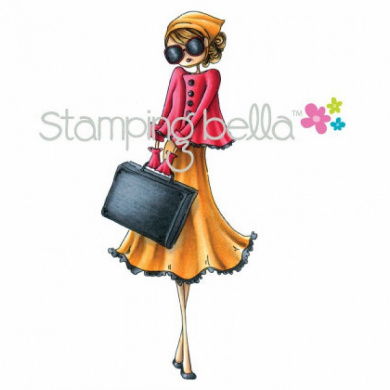 Stamping Bella Cling Rubber Stamp 12cm x 5.1cm -Uptown Girl Sunny Is .