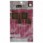 Spellbinders MB3-003 Media Mixage Square Hatpin Bezel for Scrapbooking, Bronze