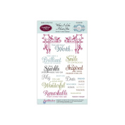 JustRite Stampers Clear Stamps - What I Like About You