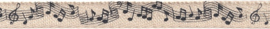 Creative Impressions Printed Twill .375' .5' X 25 Yards Music Note