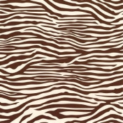 Printed Single-Sided Cardstock 30cm x 30cm -Chocolate & Ivory Zebra 15 per pack