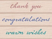 Quill Wishes Wood Mounted Rubber Stamp Set