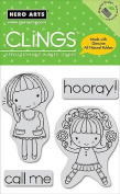 Happy Girls - Cling Rubber Stamps