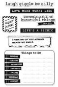 Hero Arts - BasicGrey - Lucille Collection - Poly Clear - Clear Acrylic Stamps - Be Silly