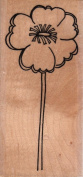 Large Outline Flower Wood Mounted Rubber Stamp