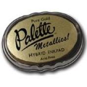 Stewart Superior Palette Metallic Inkpad Kit - Buff Bronze Kit - Pad & Reinker