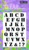 Hero Arts Stencil Alphabet Clear Stamp Set