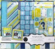 Colorbok Scrapbook Kit with Album, Blue Blooms