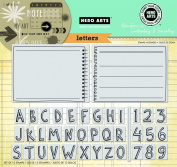 Hero Arts Letters Stamp Your Story Cling Set